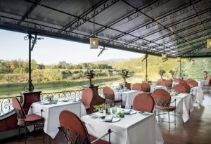 Terrace of the Restaurant Il Verrocchio, horizontal
