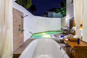 Calabash Pool Suite Private Pool Night