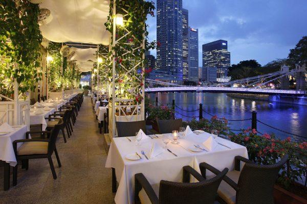 Town Alfresco (Evening) - The Fullerton Hotel Singapore